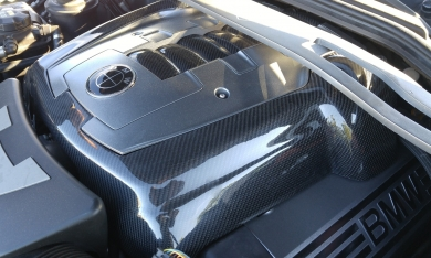 BMW E50 Center Engine Cover Finished in 3k Twill weave Gloss Carbon Fiber by Exoticcarbonfiber