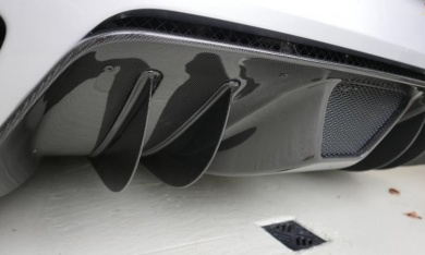 Exotic Carbon Fiber Rear Diffuser, Installed