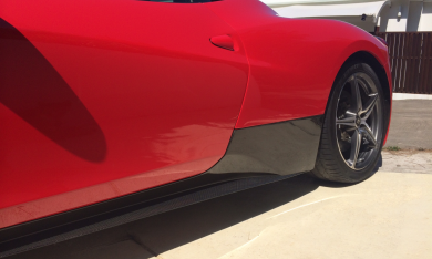 Ferrari 458 Italia Carbon Fiber Full Rocker Panels