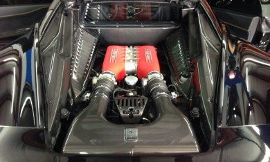 Ferrari 4587 Italia Complete Carbon Fiber Engine Bay Set by Exoticcarbonfiber