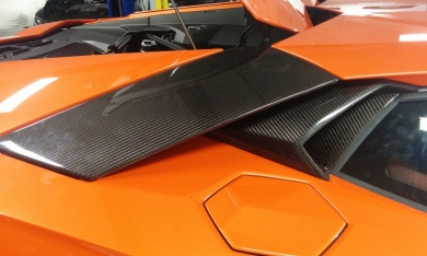 Lamborghini Aventador Carbon Fiber Small Engine Air Intakes & Engine Air Intakes