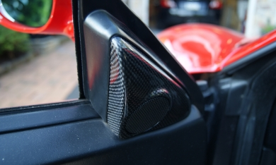 Ferrari 360/F430 Carbon Fiber Inner Door Tweeter Covers