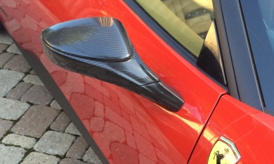 Ferrari 458 Italia Carbon Fiber Outer Mirror Housings