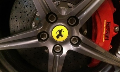 Ferrari Titanium Wheel Bolts, Black Titanum Nitride Finish by Exoticcarbonfiber