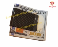 1x1 Gloss Carbon Fiber Money Clip
