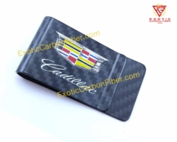 Cadillac Carbon Fiber Money Clip