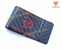 Dodge Hellcat - Red - Carbon Fiber Money Clip