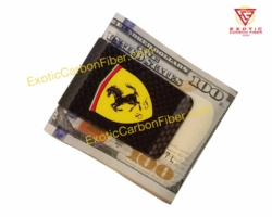 Ferrari Carbon Fiber Money Clip