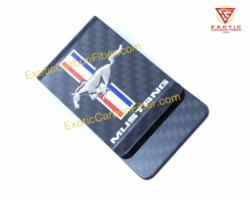 Ford Mustang Carbon Fiber Money Clip