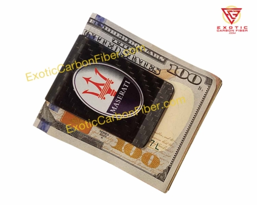 Maserati Carbon Fiber Money Clip