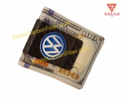 Volkswagon Carbon Fiber Money Clip