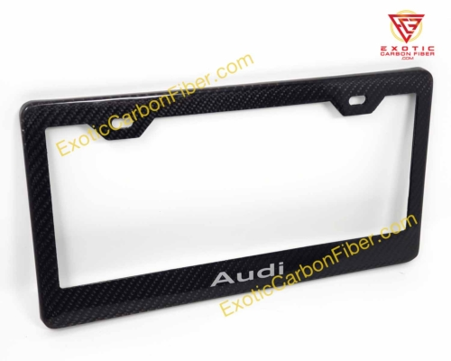 Audi Carbon Fiber License Plate Frame