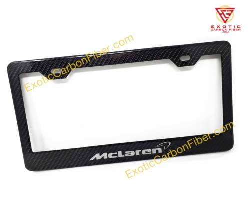 McLaren Carbon Fiber License Plate Frame