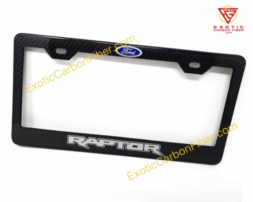 Ford Raptor Carbon Fiber License Plate Frame