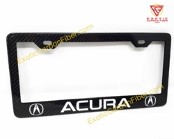 Acura Carbon Fiber License Plate Frame