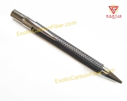 Carbon Fiber Logo Pen - Raw Finish