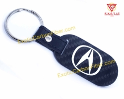 Acura White Carbon Fiber Key Fob