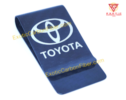 Toyota Carbon Fiber Money Clip Silver
